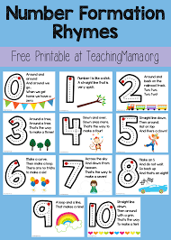 number formation rhymes number formation numbers and
