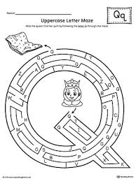 uppercase letter q maze worksheet myteachingstation com