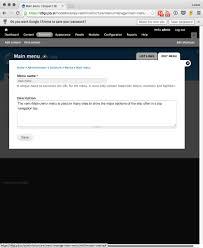Drupal Hosting Title Separate The Menu Settings From The U0027add Link U0027 Button 2520232