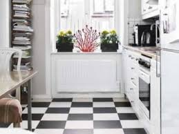 popular white and black kitchen with black floor my home design