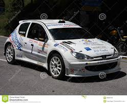 car peugeot 206 peugeot 206 super 1600 rally car editorial photography image