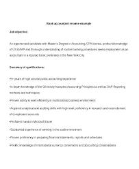 exle resume summary of qualifications accountant resume summary