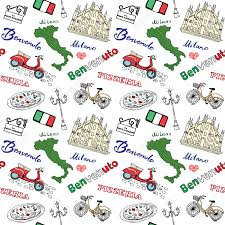 Milan Italy Map Milan Italy Seamless Pattern With Hand Drawn Sketch Elements