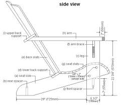 adirondack chair plan view wooden gear clock plans free download