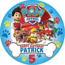 paw patrol u2013 8 u2033 u2013 6 25 u2033 pre cut edible image cake