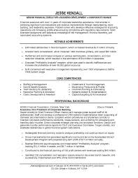 Finance Resume Examples by Free Financial Vice President Vp Resume Example