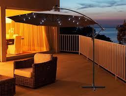 solar led umbrella lights cantilever umbrella with solar lights randallhoven com