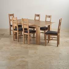 tokyo dining set in natual oak dining table 6 charcoal chairs