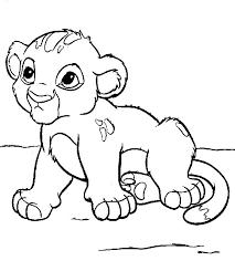 coloriage bébé lion a imprimer gratuit