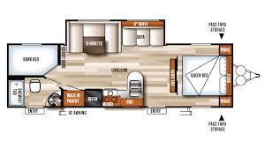Travel Trailer Floor Plans With Bunk Beds by 2018 Forest River Salem Cruise Lite 263bhxl Model