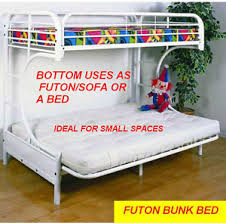 Bunk Bed With Futon On Bottom Metal Futon Bunk Bed Kijiji In Ontario Buy Sell U0026 Save With