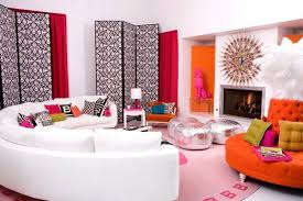Pink And Orange Living Room Design Ideas  Pictures - Pink living room design