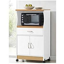 amazon com solid wood microwave cabinet with shelves white