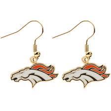 wire earrings denver broncos logo wire earrings