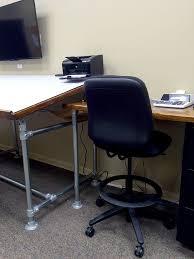 Drafting Computer Desk Diy Drafting Table Built With Kee Klamp Simplified Building