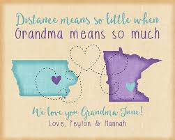 grandmother gift birthday gift for distance grandmother gift for