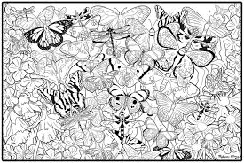 printable free abstract butterfly coloring pages print