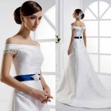 beautiful off shoulder ball gown wedding dresses with ribbon
