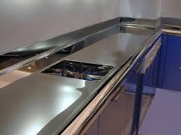 custom cut stainless steel backsplash stainless steel countertops brooks custom