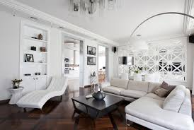 art deco interior design style white art deco relaxing zone within spacious living room with dark floor and coffee table