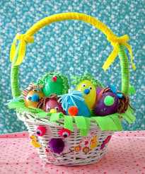 Easter Egg Basket Decorations by Huck U0027s Easter Basket How To Decorate With A One Year Old And