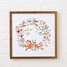 nursery framed wall art the land of nod eye spy floral wreath framed wall art