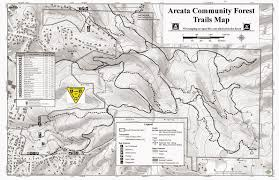 The Forest Map Northcoast Bike Rides Mtb Arcata Community Forest Update