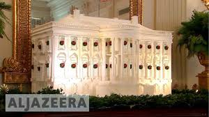 donald trump white house decor trump brings u0027christmas u0027 back to the white house youtube