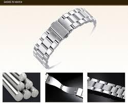 steel bracelet strap images Fit mk watch band sliver stainless steel bracelet buckle strap jpg