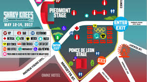 map reconfigured shaky knees festival will overtake downtown