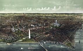 Picture Of Map Of Washington by Washington D C Birds Eye View 1892 Wall Map Mural