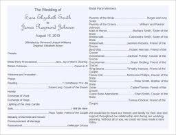 One Page Wedding Program Wedding Program Template Microsoft Word Wedding Invitation Sample