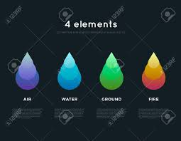 nature elements water earth air infographics elements