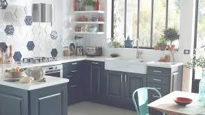 conception cuisine leroy merlin meuble de cuisine bleu delinia ashford leroy merlin with regard