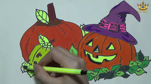 coloring pages pumpkin halloween drawing fruit art colours for