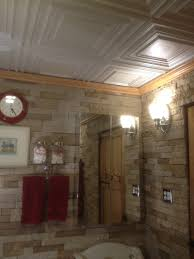 ceiling surprising faux tin ceiling tiles with wall sconces and