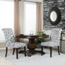 White Tufted Dining Chairs Crawford U0026 Burke Berkley Blue And White Linen Tufted Dining