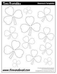 printable shamrock templates printable shape templates