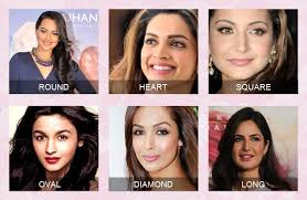 face shapes of bollywood actresses