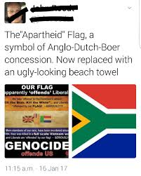 the flag apartheid under british afrikaner broederbonders was just
