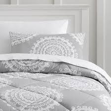light gray twin comforter medallion florette comforter sham pbteen