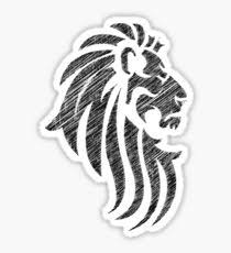 tribal tattoo lion stickers redbubble