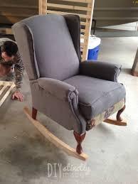 Old Man In Rocking Chair Diy Pottery Barn Rocking Chair U2013 Diystinctly Made