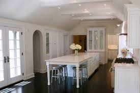 west end cabinet company kitchen with vaulted ceiling white box