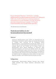 PDF Skalenkonstruktion in der Kommunikationswissenschaft