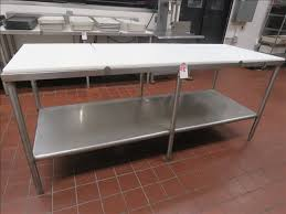 meat cutting table tops ss 7 meat cutting table w poly top