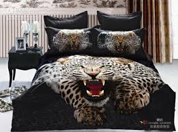 Bed Comforters Sets Cool Animal Panther Boys Bedding Set Active Printed Cotton