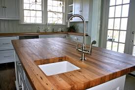 kitchen island oak brown reclaimed oak wood countertops for kitchen island