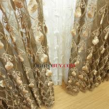 luxury embroidery embossed pattern net polyester sheer curtain