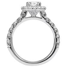 Cushion Cut Halo Diamond Engagement Ring In Platinum Martin Flyer Promise Cut Cushion Halo Diamond Engagement Ring In